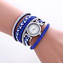 baratos Relógios de Pulseira-Mulheres Bracele Relógio / Relógio de Pulso Legal / Colorido PU Banda Vintage / Heart Shape / Casual Preta / Branco / Azul / Um ano / KC 377A