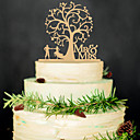 cheap Cake Toppers-Wedding / Party / Wedding Party Wood Wedding Decorations Classic Theme Winter Spring Summer Fall All Seasons