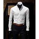 baratos Acessórios Masculinos-Homens Camisa Social Estilo Moderno, Sólido Algodão