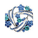 cheap Brooches-Women's Crystal Brooches - Imitation Diamond Dainty Brooch Blue For Wedding / Party / Daily