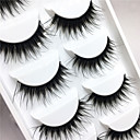 cheap Eyelashes-Eyelashes lash Eye Lifted lashes Volumized 0.1mm Full Strip Lashes Crisscross Thick Fiber Black Band