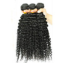 baratos Braceletes-3 pacotes Cabelo Brasileiro Kinky Curly / Onda Profunda / Weave Curly Cabelo Virgem Cabelo Humano Ondulado Tramas de cabelo humano Extensões de cabelo humano / Crespo Cacheado
