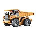 baratos Tanques RC-Carro com CR HUINA 1540 Canal 6 2.4G Caminhão / Veiculo de Construção / Caminhão basculante 1:18 KM / H Controlo Remoto / Recarregável / Elétrico