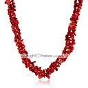 preiswerte Modische Halsketten-Damen Kristall Stränge Halskette - Krystall Blume Modisch Regenbogen, Rot Modische Halsketten Schmuck Für Party, Normal