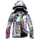 זול ביגוד לסקי וסנובורד-GQY® בגדי ריקוד נשים ג'קט לסקי עמיד, עמיד למים, שמור על חום הגוף סקי / ספורט חורף פוליאסטר ז'קטים לחורף ביגוד סקי