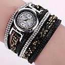 preiswerte Armband-Uhren-Damen Armband-Uhr Armbanduhr Quartz Cool PU Band Analog Charme Glanz Retro Schwarz / Weiß / Blau - Grün Rosa Hellblau