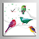 cheap Christmas Decorations-Modern/Contemporary Canvas Square Indoor,AA Wall Clock