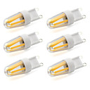 cheap LED Bi-pin Lights-6pcs 600lm G9 LED Bi-pin Lights T 4 LED Beads COB Decorative Warm White Cold White 220-240V