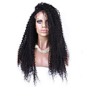 cheap Synthetic Capless Wigs-Synthetic Lace Front Wig Afro / Kinky Curly Synthetic Hair Natural Hairline Black Wig Women's Lace Front
