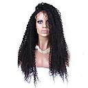 olcso Szintetikus parókák-Szintetikus csipke front parókák afro / Kinky Curly Szintetikus haj Természetes hajszálvonal Fekete Paróka Női Csipke eleje Fekete