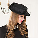 cheap Party Headpieces-Wool Basketwork Net Fascinators Hats 1 Wedding Special Occasion Casual Headpiece