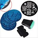 baratos Carimbos para Unhas-arte de unha Fashion Alta qualidade Diário Nail Art Design