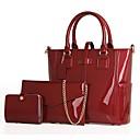 رخيصةأون مجموعات حقائب-للمرأة أكياس PU مجموعات حقيبة 3 قطع محفظة مجموعة أرجواني / أحمر / أزرق