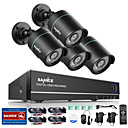 cheap DVR Kits-SANNCE® 4CH 4 in 1 720P HDMI AHD CCTV DVR 4PCS 1.0 MP IR Outdoor Security Camera Surveillance System
