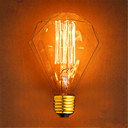 baratos Lâmpadas LED em Forma de Espiga-1pç 40 W E26 / E27 G95 Branco Quente 2300 k Retro / Decorativa Incandescente Vintage Edison Light Bulb 220-240 V