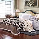 preiswerte Sofadecken & Überwürfe-Korallenfleece, Bedruckt Gingan 100% Polyester Decken