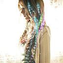 halpa Baaritarvikkeet-valokuitu johtanut hiusneula morsian hiukset päähineet puolue värjätty 40cm