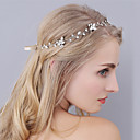 cheap Party Headpieces-Rhinestone Headbands / Headwear with Floral 1pc Wedding / Special Occasion Headpiece