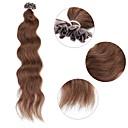 billige Kostymeparykk-Fusjon / U-tipp Hairextensions med menneskehår Krøllet Hairextensions med menneskehår Ekte hår Dame