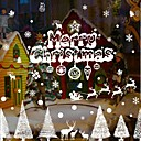 cheap Christmas Decorations-Christmas Decorations Words & Quotes Holiday Wall Stickers Plane Wall Stickers Decorative Wall Stickers Home Decoration Wall Decal Wall
