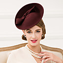 cheap Party Headpieces-Wool Hats / Headwear with Floral 1pc Wedding / Special Occasion / Casual Headpiece