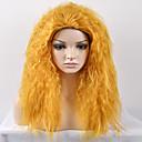 halpa Synteettiset peruukit ilmanmyssyä-Synteettiset peruukit Afro / Kinky Curly Synteettiset hiukset Peruukki Naisten Keskikokoinen Suojuksettomat
