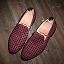 cheap Men's Slip-ons & Loafers-Men's Shoes Leather Summer Comfort Loafers & Slip-Ons Black / Blue / Burgundy