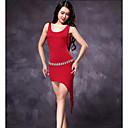 baratos Roupas de Dança Latina-Dança Latina Vestidos Mulheres Treino Modal Sem Manga Alto Vestido