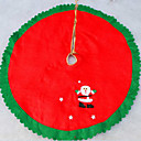 cheap Christmas Decorations-Non-woven Christmas Tree Skirt The Christmas Tree Apron 90Cm