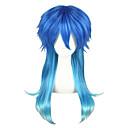 abordables Pelucas de Cosplay de Video Juegos-Pelucas de Cosplay Cosplay Cosplay Azul Animé Pelucas de Cosplay 24 pulgada Fibra resistente al calor Hombre Mujer Pelucas de Halloween