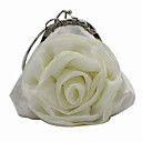 cheap Clutches & Evening Bags-Women's Bags Canvas Evening Bag Lace Beige / Gray