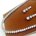 abordables Juegos de Joyería-Mujer Zirconia Cúbica Conjunto de joyas - Zirconio, Zirconia Cúbica Incluir Plata Para Fiesta / Pendientes / Collare