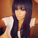 olcso Szintetikus parókák-Emberi haj Csipke eleje Paróka Egyenes Paróka 130% Természetes hajszálvonal / Afro-amerikai paróka / 100% kézi csomózású Női Rövid / Közepes / Hosszú Emberi hajból készült parókák