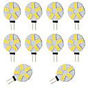 cheap LED Bi-pin Lights-10pcs 2W 360lm G4 LED Bi-pin Lights T 15 LED Beads SMD 5730 Warm White Cold White 12-24V 12V