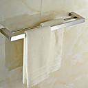 hesapli Havlu Çubukları-Havlu Çubuğu Yüksek kalite Çağdaş Paslanmaz Çelik 1 parça - Otel banyo 2 kulplu çubuk