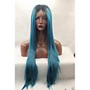 halpa Miesten saappaat-Synteettiset pitsireunan peruukit Suora Synteettiset hiukset Luonnollinen hiusviiva Peruukki Naisten Lace Front