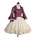 cheap Lolita Dresses-Sweet Lolita Dress Women's Dress Cosplay Purple Poet Sleeve Long Sleeve Knee Length