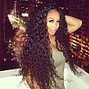 tanie Peruki z włosów ludzkich-Włosy naturalne Front lace bez kleju Siateczka z przodu Peruka Kinky Curl Peruka 130% Gęstość włosów Naturalna linia włosów Peruka afroamerykańska W 100% ręcznie wiązane Damskie Krótkie Długo