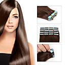 olcso Felragasztható póthajak-Ragasztható Human Hair Extensions Egyenes Emberi haj tincsek Emberi haj Brazil haj 8a Női