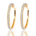 cheap Earrings-Women's Hoop Earrings - Silver Plated, Gold Plated Gold / Silver For Wedding / Party