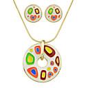 baratos Colares-Mulheres Conjunto de jóias - Fashion Incluir Branco / Preto / Vermelho Para Festa / Diário / Brincos / Colares