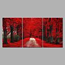 baratos Impressões-Laminado Impressão De Canvas Paisagem Fantasia Modern, 3 Painéis Tela de pintura Horizontal Estampado Decoração de Parede Decoração para
