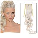 cheap Costume Wigs-Clip In / On Ponytails Party / Synthetic Synthetic Hair Hair Piece Hair Extension Wavy Halloween / Masquerade