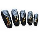 billige Negle Sticker-5 pcs 3D Negle Stickers Vandoverførings klistermærke Negle kunst Manicure Pedicure Mode Daglig / 3D Nail Stickers