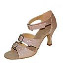 baratos Sapatos de Dança Latina-Mulheres Latina Jazz Sapatos de Swing Salsa Flocagem Glitter Sandália Salto Interior Espetáculo Profissional Iniciante Ensaio/Prática