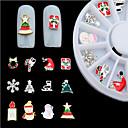 preiswerte Nagel Strass & Dekorationen-- Finger / Zehe - 3D Nails Nagelaufkleber - Metall - 12pcs/set Stück - mix sizes cm