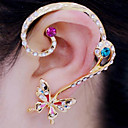 cheap Bakeware-Women's Clip Earrings Ear Cuff - Rhinestone, Imitation Diamond Butterfly, Animal Luxury White / Rainbow For Party Daily Casual