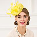 preiswerte Parykopfbedeckungen-Flachs Feder Fascinators Hüte Kopfschmuck klassischen weiblichen Stil