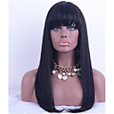 cheap Human Hair Wigs-Human Hair Lace Front Wig / Glueless Lace Front Wig Straight 130% Density Natural Hairline / African American Wig / 100% Hand Tied Women's Short / Medium Length / Long Human Hair Lace Wig