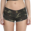 cheap Women's Heels-Women's Jeans / Shorts Pants - Camouflage Print Green